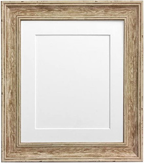 FRAMES BY POST Scandi Distressed Wood Picture Photo Frame With Mounts