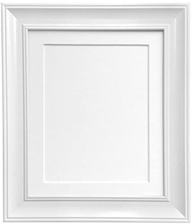 FRAMES BY POST Scandi Vintage White Picture Photo Frame With Mounts