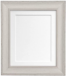 FRAMES BY POST Scandi Distressed Pale Grey Picture Photo Frame