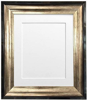 FRAMES BY POST Firenza Antique Distressed Black and Gold Picture Photo Frame with Mounts