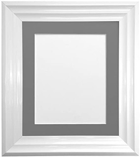 FRAMES BY POST Firenza White Picture Photo Frame with Mounts