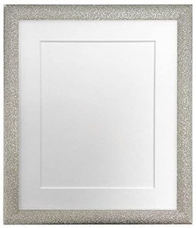 FRAMES BY POST Glitz Champagne Silver Picture Photo Frame with White, Black, Ivory, Blue, Pink, Light and Dark Grey Mounts