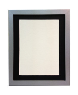 FRAMES BY POST H7 Silver Picture Photo Frame with Mounts