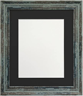 FRAMES BY POST Distressed Industrial Blue Photo Frame with Mounts