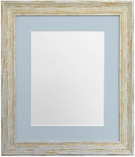 FRAMES BY POST Distressed Industrial Light Brown Wash Photo Frame with Mounts