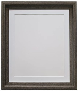 Jones Wood Grain with Black Picture Photo Frames with White Black Ivory Pink Blue Light Grey and Dark Grey Mounts