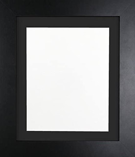 FRAMES BY POST London Black Picture Photo Frame with Black Mount