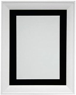 FRAMES BY POST 39x18mm Metro White Picture Photo Frame with Black Mount