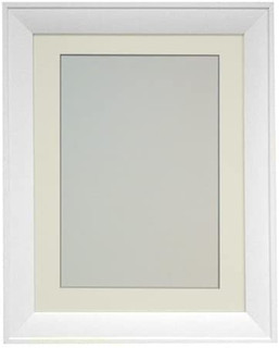 FRAMES BY POST 39x18mm Metro White Picture Photo Frame with Ivory Mount