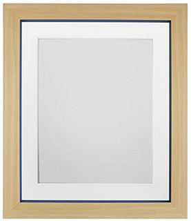 Magnus Beech with Cobalt Blue Picture Photo Frames with White Black Ivory Pink Blue Light Grey and Dark Grey Mounts
