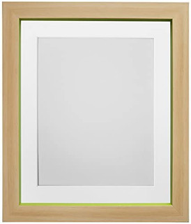 Magnus Beech with Green Picture Photo Frames with White Black Ivory Pink Blue Light Grey and Dark Grey Mounts
