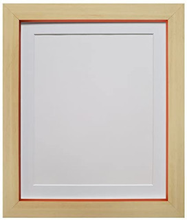 Magnus Beech with Orange Picture Photo Frames with White Black Ivory Pink Blue Light Grey and Dark Grey Mounts