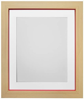 Magnus Beech with Red Picture Photo Frames with White Black Ivory Pink Blue Light Grey and Dark Grey Mounts