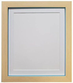 Magnus Beech with Teal Blue Picture Photo Frames with White Black Ivory Pink Blue Light Grey and Dark Grey Mounts