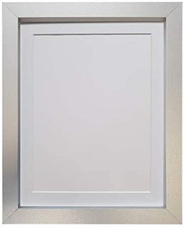FRAMES BY POST Nio Silver Photo Picture Poster Frame with Black, White, Ivory, Blue, Pink, Light and Dark Grey Mounts