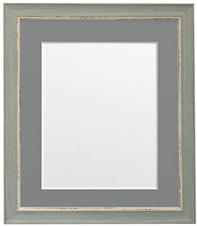 FRAMES BY POST Nordic Distressed Blue with Black, White, Ivory, Blue, Pink, Light and Dark Grey mounts