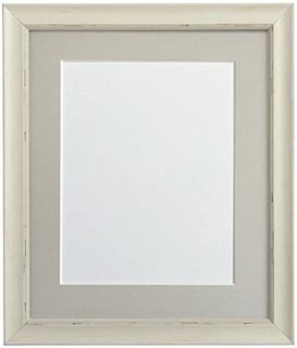 FRAMES BY POST Nordic Pale Grey Photo Frame with Dark Grey Mount