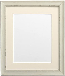 FRAMES BY POST Nordic Pale Grey Photo Frame with Ivory Mount