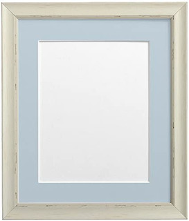 FRAMES BY POST Nordic Pale Grey Photo Frame with Pink Mount