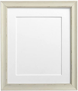 FRAMES BY POST Nordic Pale Grey Photo Frame with White Mount