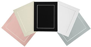 FRAMES BY POST Acid Free Single Pink Mount and Backing Board With A Clear Self Seal Poly Bag