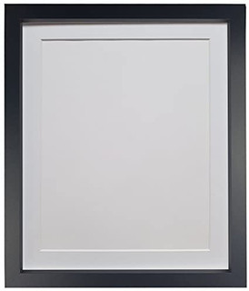 FRAMES BY POST RECO Black Photo Picture Poster Frame With Mount