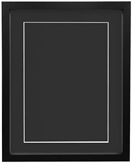 FRAMES BY POST 18mm wide Rio Black Picture Photo Frame with Mounts and Backing Boards