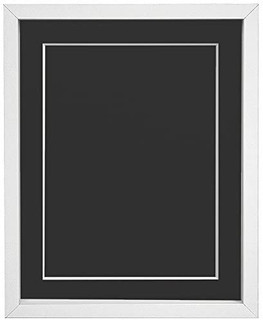 FRAMES BY POST 18mm wide Rio White Picture Photo Frame with Mounts and Backing Boards