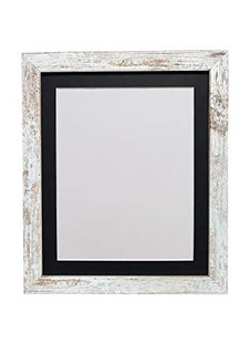 FRAMES BY POST H7 Picture Photo Frame Distressed White with Mount