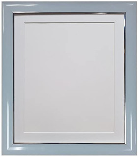 FRAMES BY POST Soda Blue Picture Photo Frame with Black, White, Ivory, Blue, Pink and Light and Dark Grey Mounts