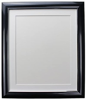 FRAMES BY POST Soda Charcoal Picture Photo Frame with Black, White, Ivory, Blue, Pink and Light and Dark Grey Mounts