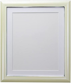 FRAMES BY POST Soda Cream Picture Photo Frame with Black, White, Ivory, Blue, Pink and Light and Dark Grey Mounts