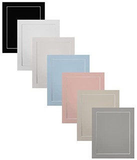 FRAMES BY POST Acid Free Single White Mount and Backing Board with a Clear Self Seal Poly Bag
