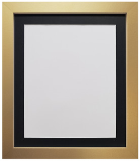 FRAMES BY POST H7 Gold Picture Photo Frame with with Black, White Or Ivory Mount