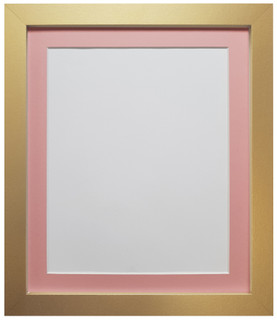 FRAMES BY POST H7 Gold Picture Photo Frame with Pink, Blue Red , Dark Grey & Light grey mounts