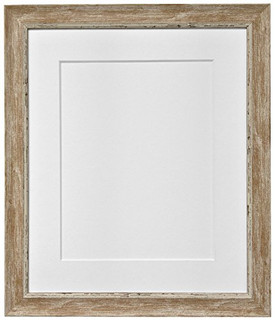 1117PQXN879 | FRAMES BY POST Nordic Distressed Wood Photo Frame with White Mount