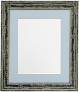 1023PJ14VVX   FRAMES BY POST Distressed Industrial Green Photo Frame with Mounts