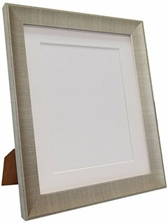 0704ULFQG6R | FRAMES BY POST Millin Picture Photo Frame With Black, White, Ivory, Blue, Pink and Light/Dark Grey Mounts