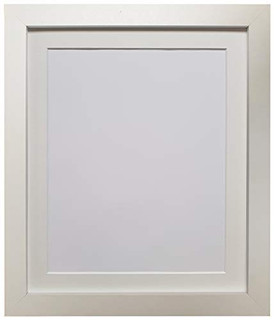 0316II2LC1R | FRAMES BY POST 25mm wide H7 White Picture Photo Frame with Ivory Mount