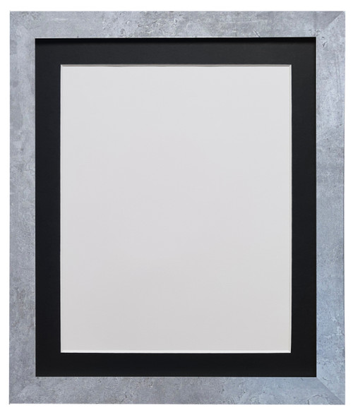 FRAMES BY POST H7 Mineral Grey Picture Photo Frame with  Black White Ivory Dark Grey Light Grey Pink Blue & Red Mounts