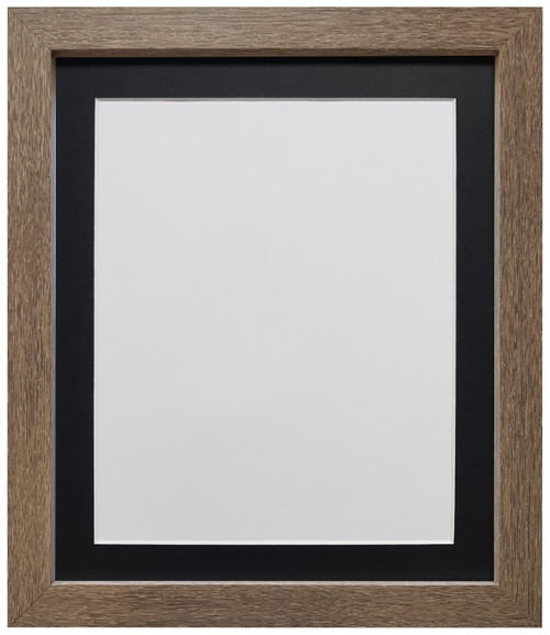 FRAMES BY POST H7 Drift Oak Picture Photo Frame with  Black White Ivory Dark Grey Light Grey Pink Blue & Red Mounts
