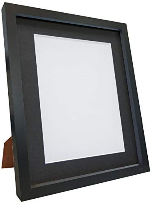 FRAMES BY POST 18mm wide Rio Black Picture Photo Frame with Mounts