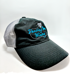 Mesh Backing Cap - Dancing Bee Winery Logo
