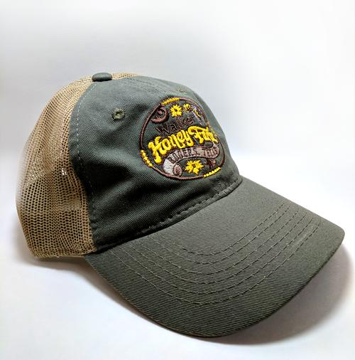Mesh Backing Cap - Walker Honey Farm Logo