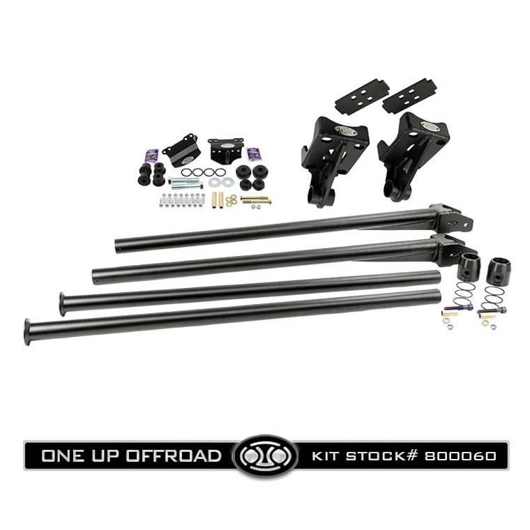"#800060 - Short Gusset Traction Bar Kit w/ Under Frame Mounts, 3.5"" & 4"" Axle Bar Mounts"