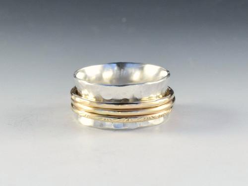 Sterling Silver/14k Goldfill Spinner Ring