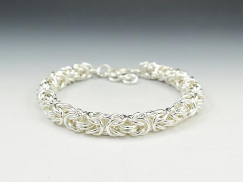 Sterling Silver Byzantine Bracelet - Large Weave