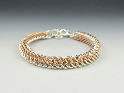 Sterling Silver/14k Rose Goldfill Half-Persian Bracelet