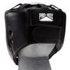 PRO BOX CLUB ESSENTIALS LEATHER HEADGUARD: BLACK
