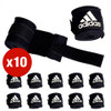 MULTI-BUY - 10 X ADIDAS ABA APPROVED 2.5m BOXING HAND WRAPS